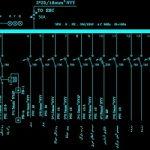 نقشه کامل تاسیسات برق ساختمان مسکونی پنج طبقه 2100 متری به همراه همکف و زیر زمین در اتوکد