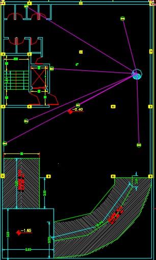 نقشه کامل تاسیسات مکانیکی آپارتمان 8 واحده با پارکینگ طبقاتی ودارای سیستم اطفاء حریق در اتوکد