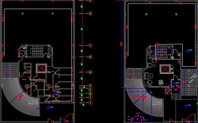 نقشه کامل تاسیسات برق ساختمان مسکونی شش طبقه 2250 متری در اتوکد