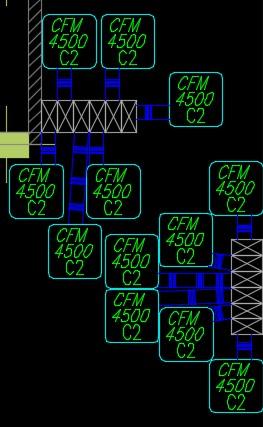 نقشه کامل تاسیسات مکانیکی ساختمان مسکونی 48 واحدی در اتوکد