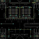 نقشه کامل تاسیسات برق برج عظیم تجاری – تفریحی 9 طبقه و سی هزار متری در اتوکد