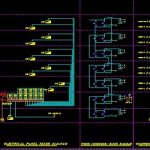 نقشه کامل تاسیسات برق ساختمان مسکونی چهار طبقه به همراه همکف و طبقه منفی یک در اتوکد