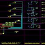 نقشه کامل تاسیسات برق یک برج مسکونی با زیر بنای سه هزار متر در اتوکد