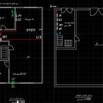 نقشه کامل تاسیسات مکانیکی آپارتمان مسکونی 594 متری در اتوکد