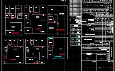 نقشه کامل گاز ساختمان چهار طبقه با زیر زمین در اتوکد به همراه طراحی ایزومتریک