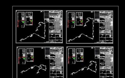 نقشه کامل گاز آپارتمان چهار طبقه در اتوکد به همراه طراحی ایزومتریک