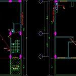 نقشه کامل تاسیسات مکانیکی آپارتمان مسکونی پنج طبقه 570 متری در اتوکد
