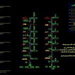 نقشه کامل نقشه کامل تاسیسات مکانیکی آپارتمان پنج واحده 750 متری در اتوکد در اتوکد