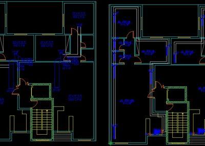 نقشه کامل تاسیسات مکانیکی آپارتمان مسکونی 8 واحده در اتوکد