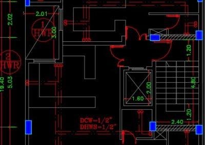 نقشه کامل تاسیسات مکانیکی مجتمع مسکونی 1350 متری واقع در منطقه 7 در اتوکد