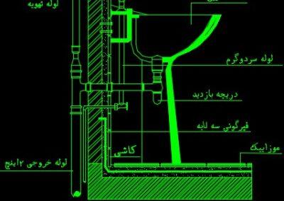 نقشه کامل تاسیسات مکانیکی آپارتمان مسکونی 730 متری در اتوکد
