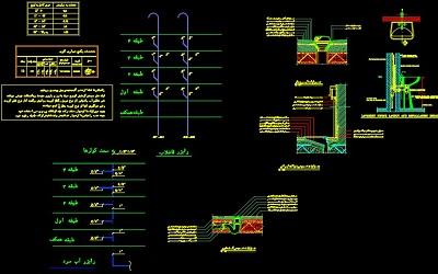 نقشه کامل تاسیسات مکانیکی آپارتمان مسکونی 406 متری در اتوکد