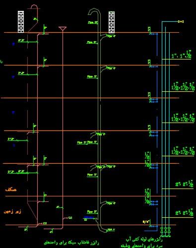 نقشه کامل تاسیسات مکانیکی مجتمع مسکونی 1160 متری در اتوکد
